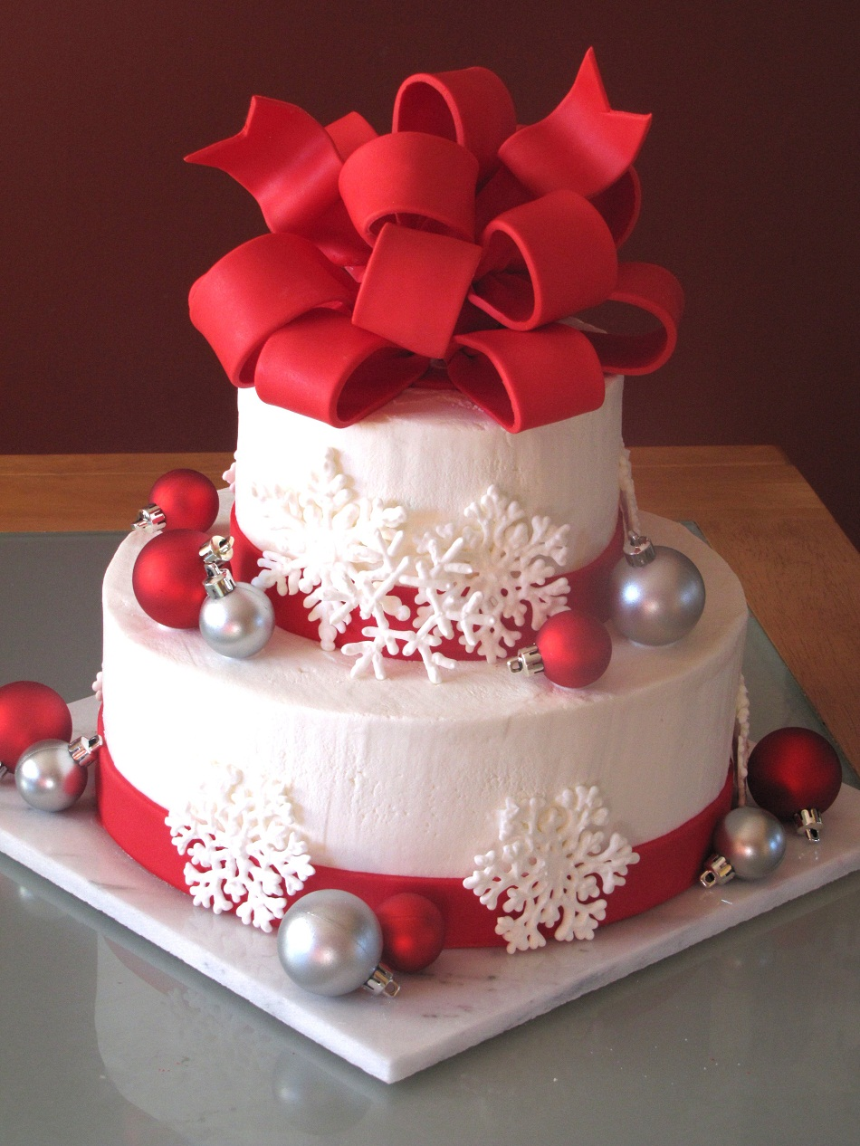 christmas cake decorations bbc