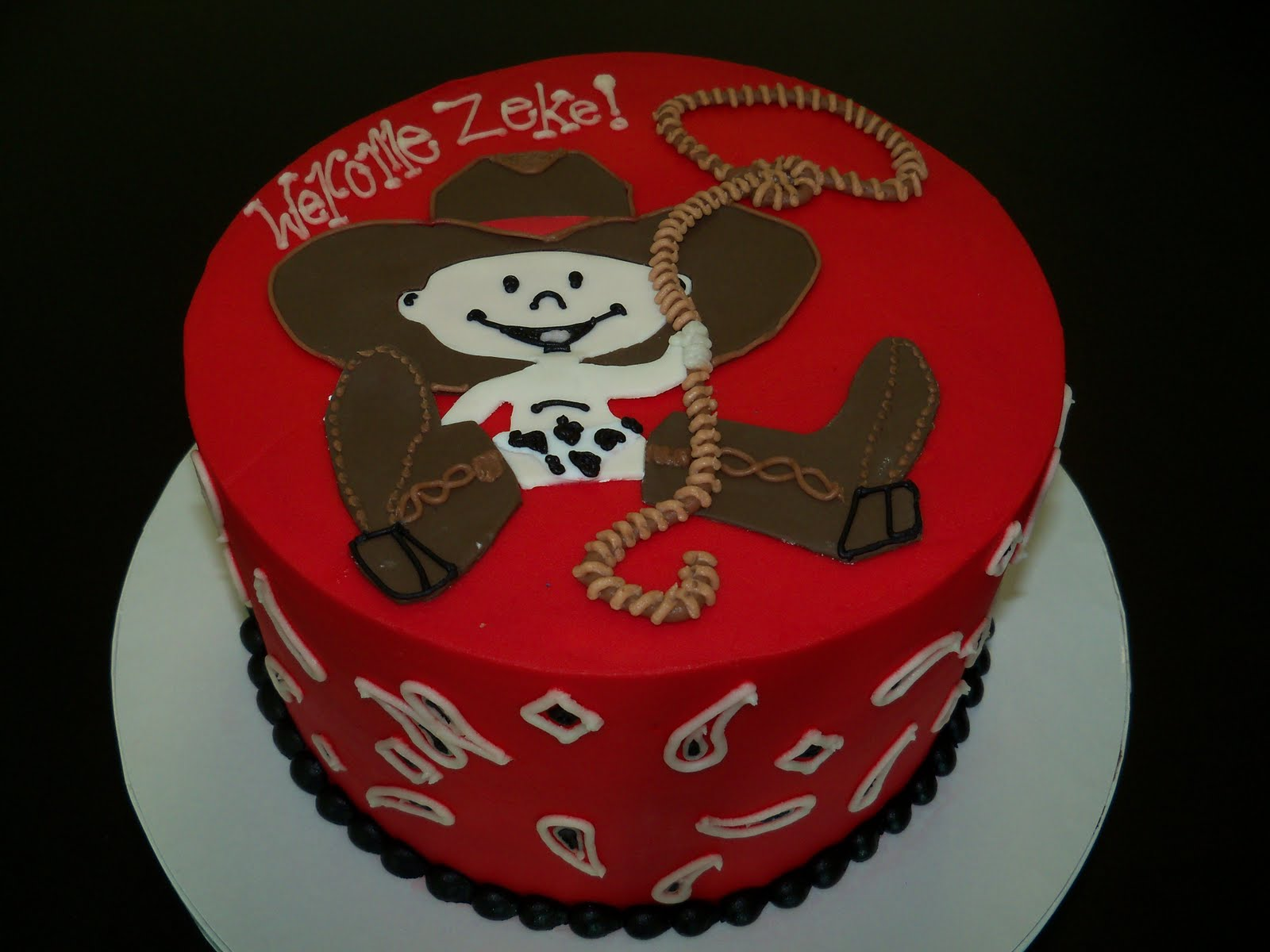 Little Cowboy Baby Shower Theme Part - 27: Cowboy Birthday Cakes