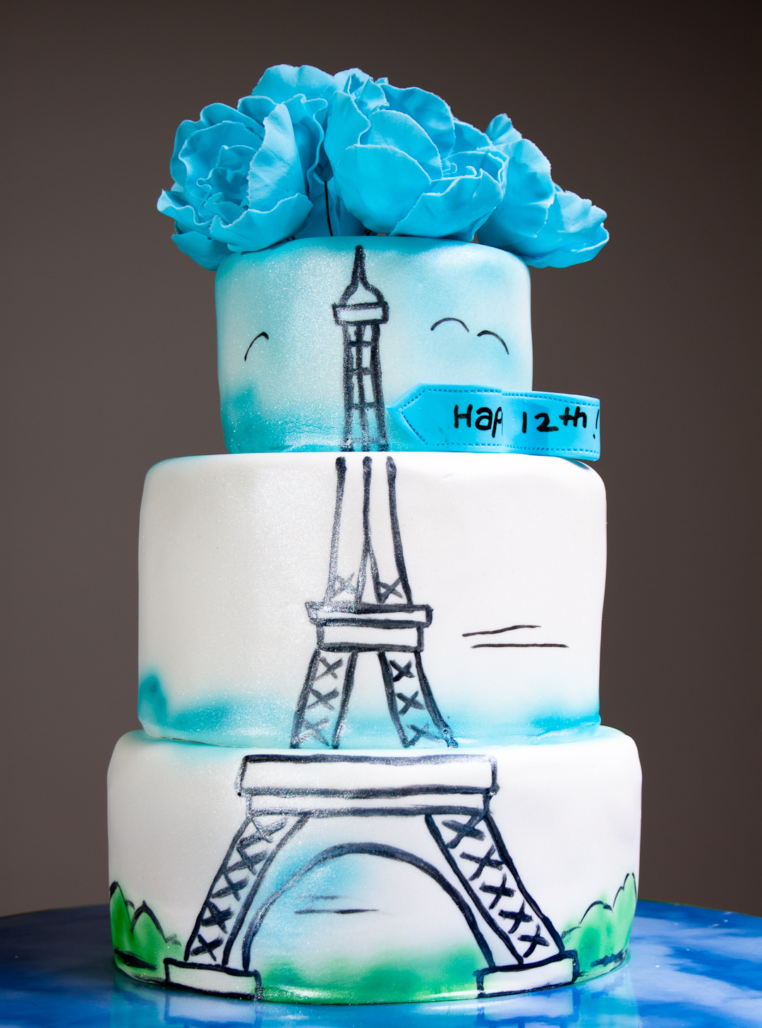Making Eiffel Tower Cake