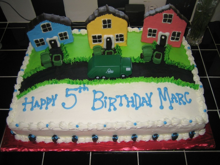 Garbage Truck Cakes   Decoration Ideas Little Birthday Cakes
