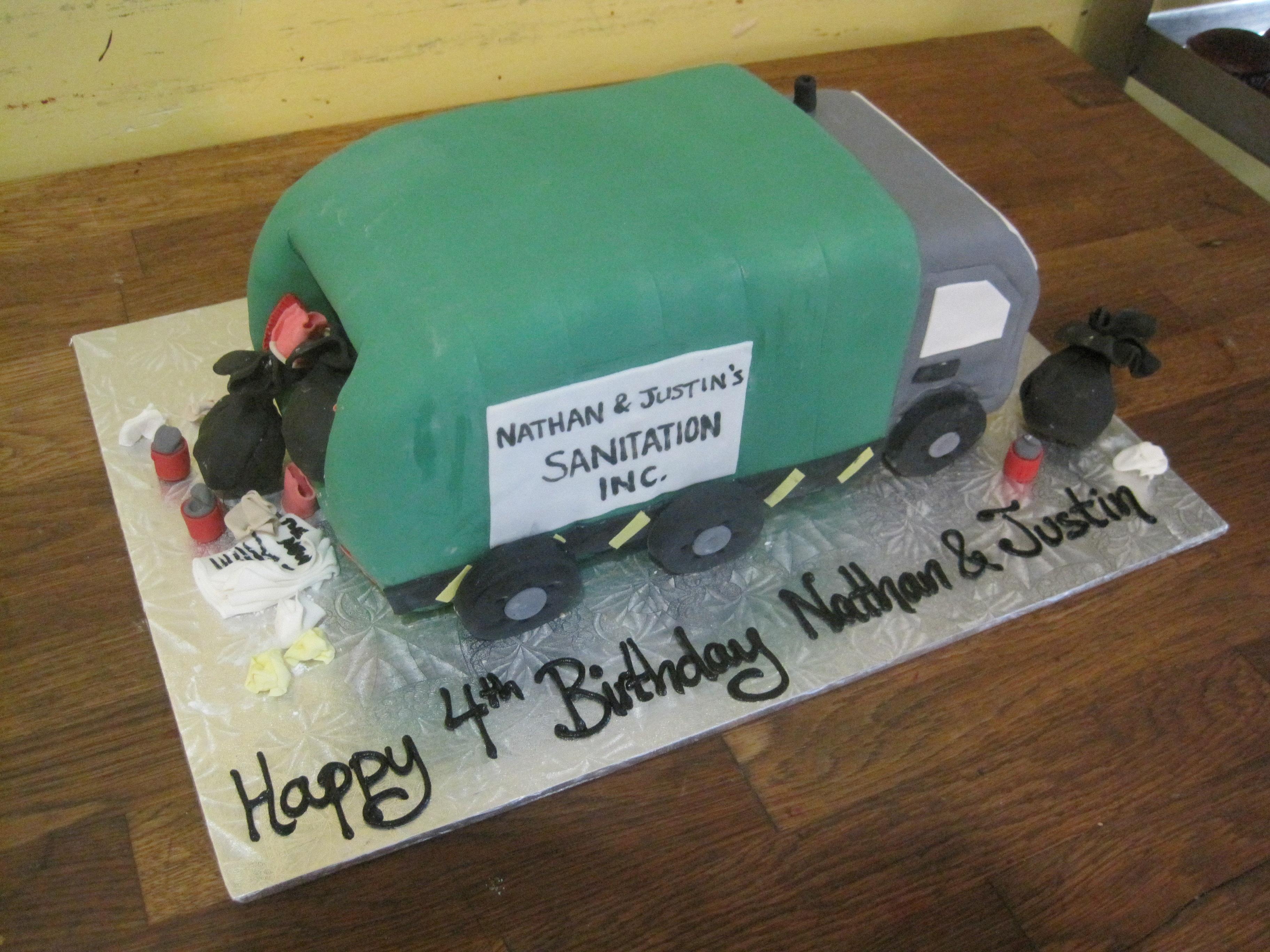 Garbage Truck Cakes Decoration Ideas Little Birthday Cakes