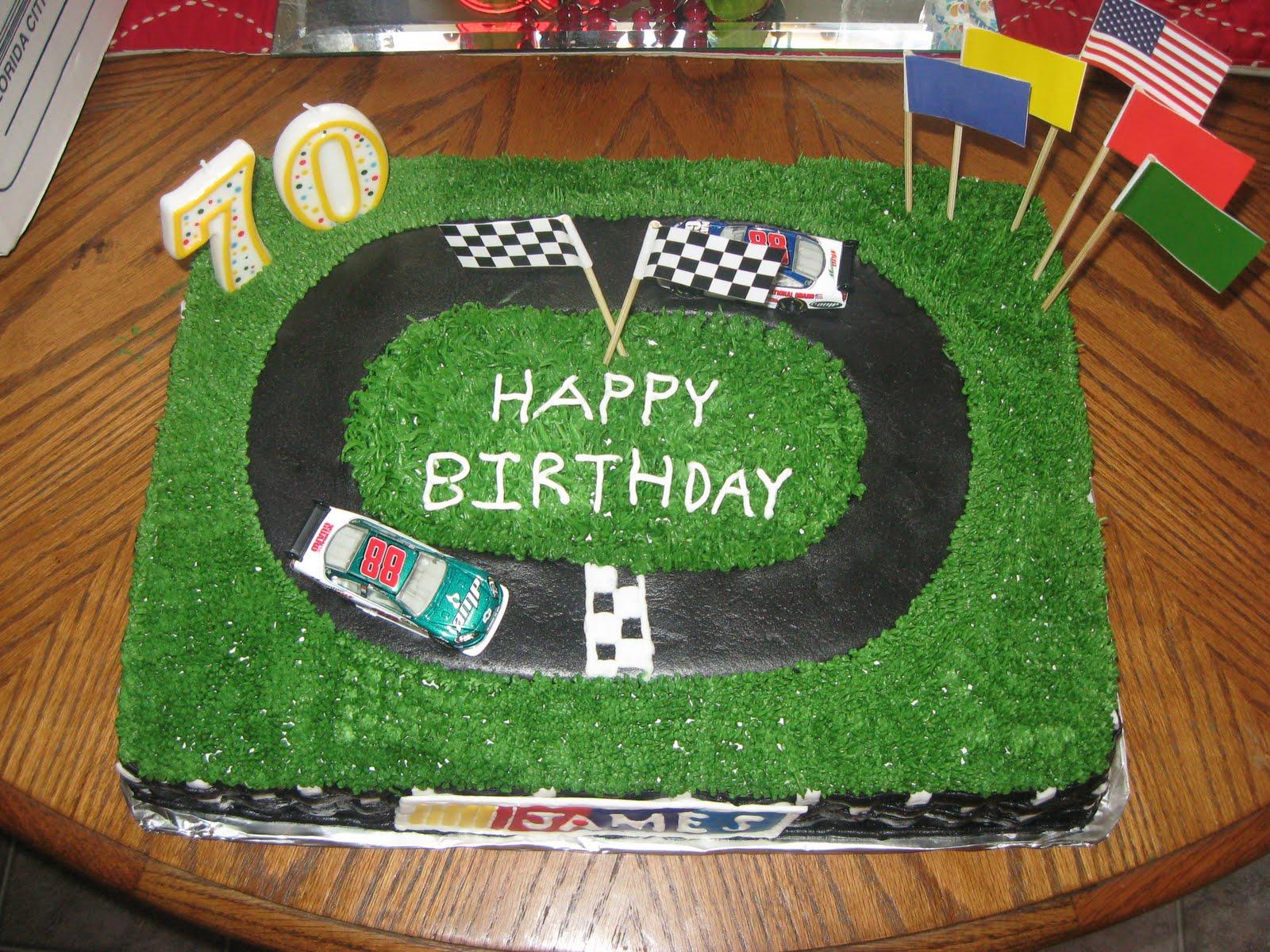 Cars Table Decorations Nascar Cake Decorations Cake