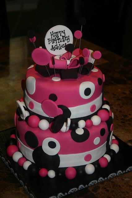 Polka dot cakes decoration ideas little birthday cakes for Pink polka dot decorations