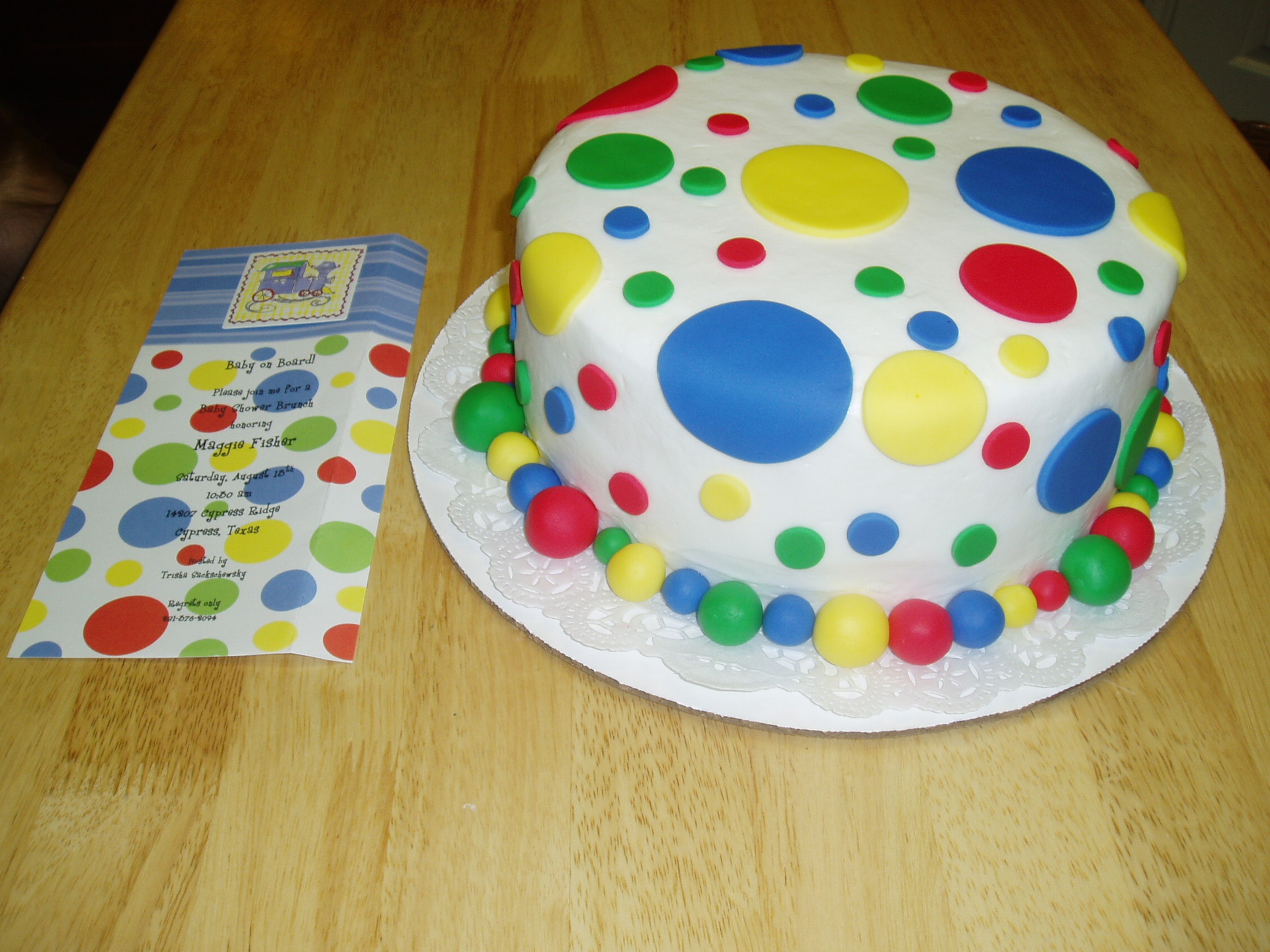 Polka Dot Cakes   Decoration Ideas Little Birthday Cakes