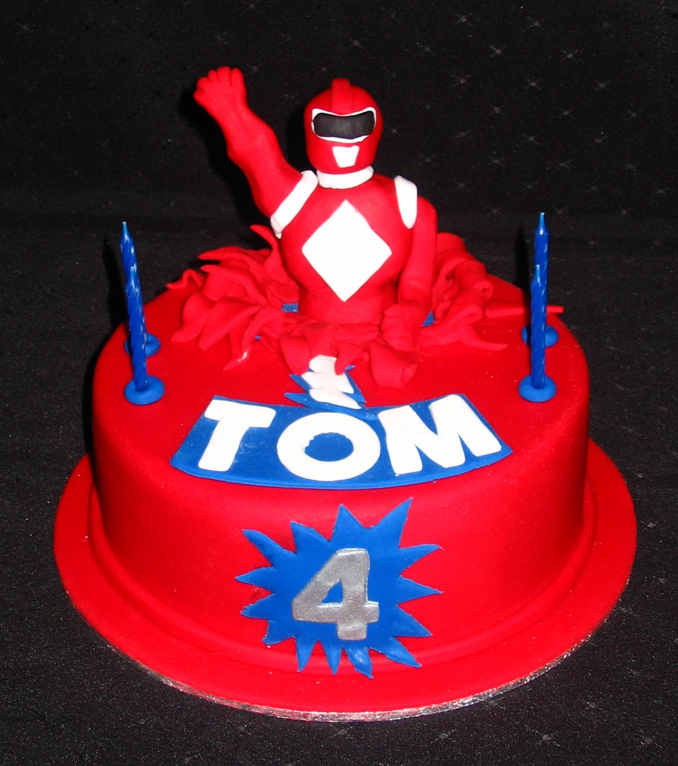 Red Power Ranger Cake Designs