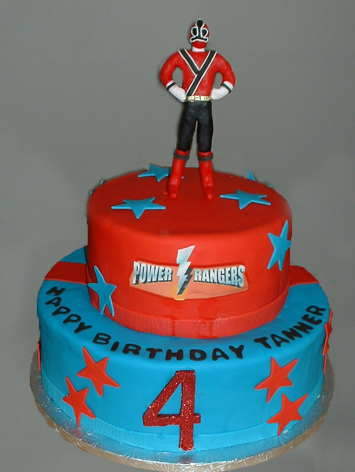 Blue Power Ranger Cake Ideas
