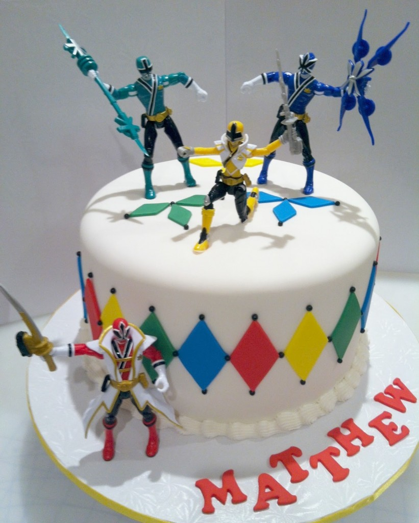 pictures of power rangers cakes