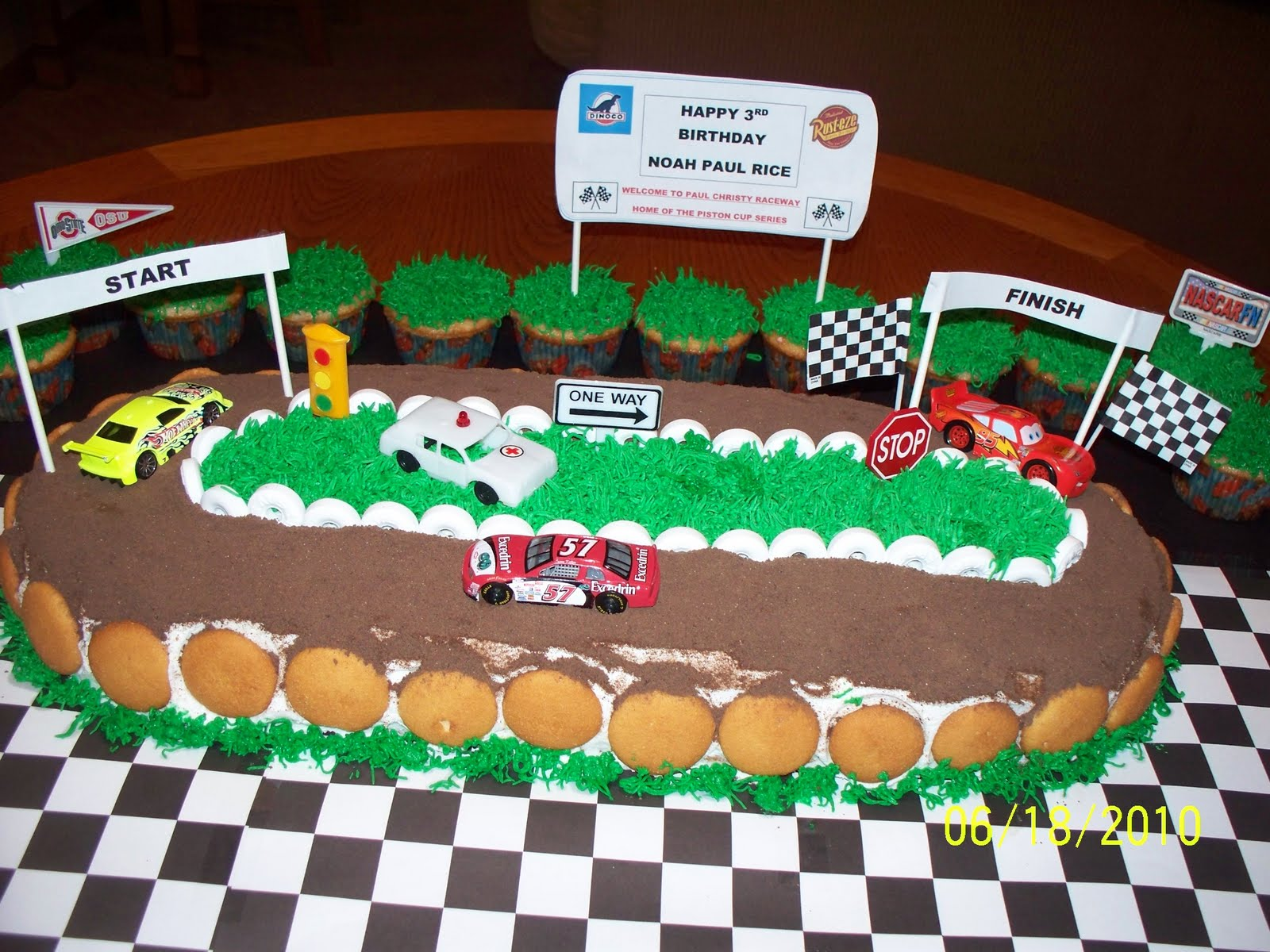 Race Bike Birthday Cake