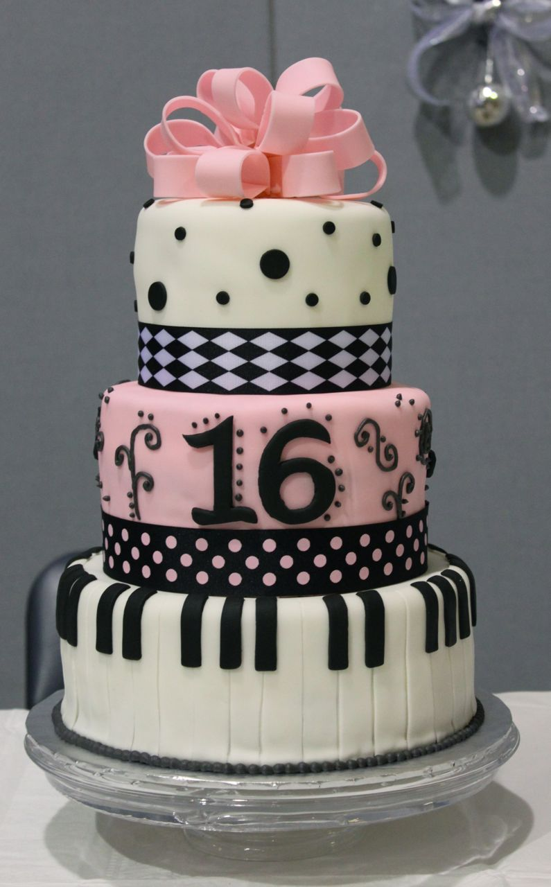 Sweet 16 Cakes Decoration Ideas