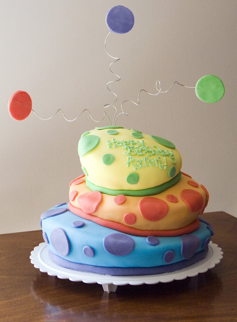 Topsy Turvy Square Wedding Cakes