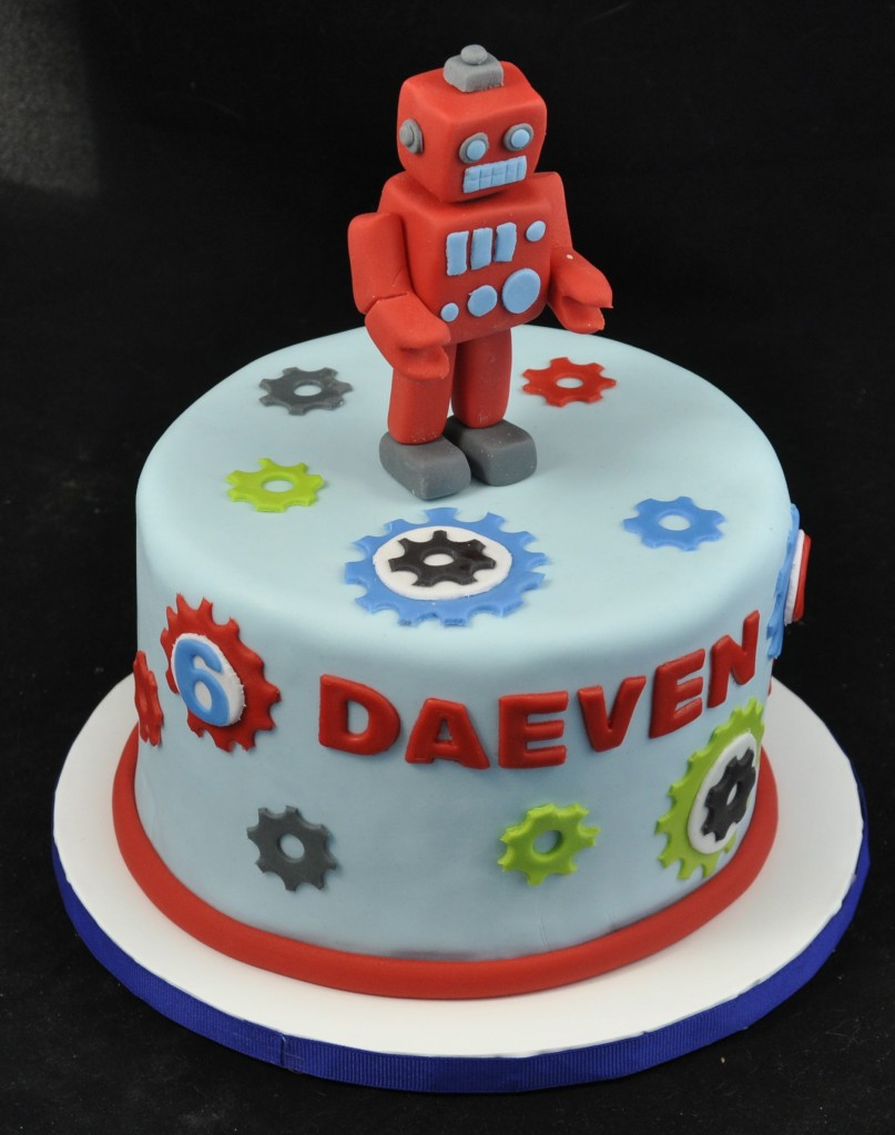 Birthday Robot Cake