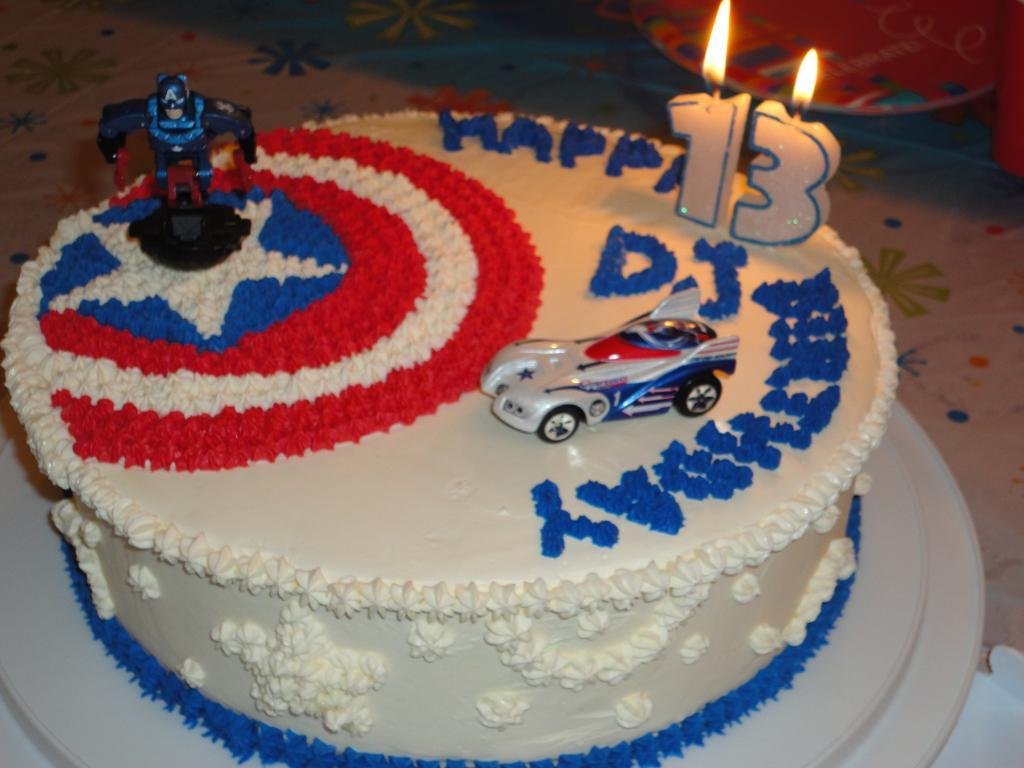 Captain America Birthday Cake Pictures