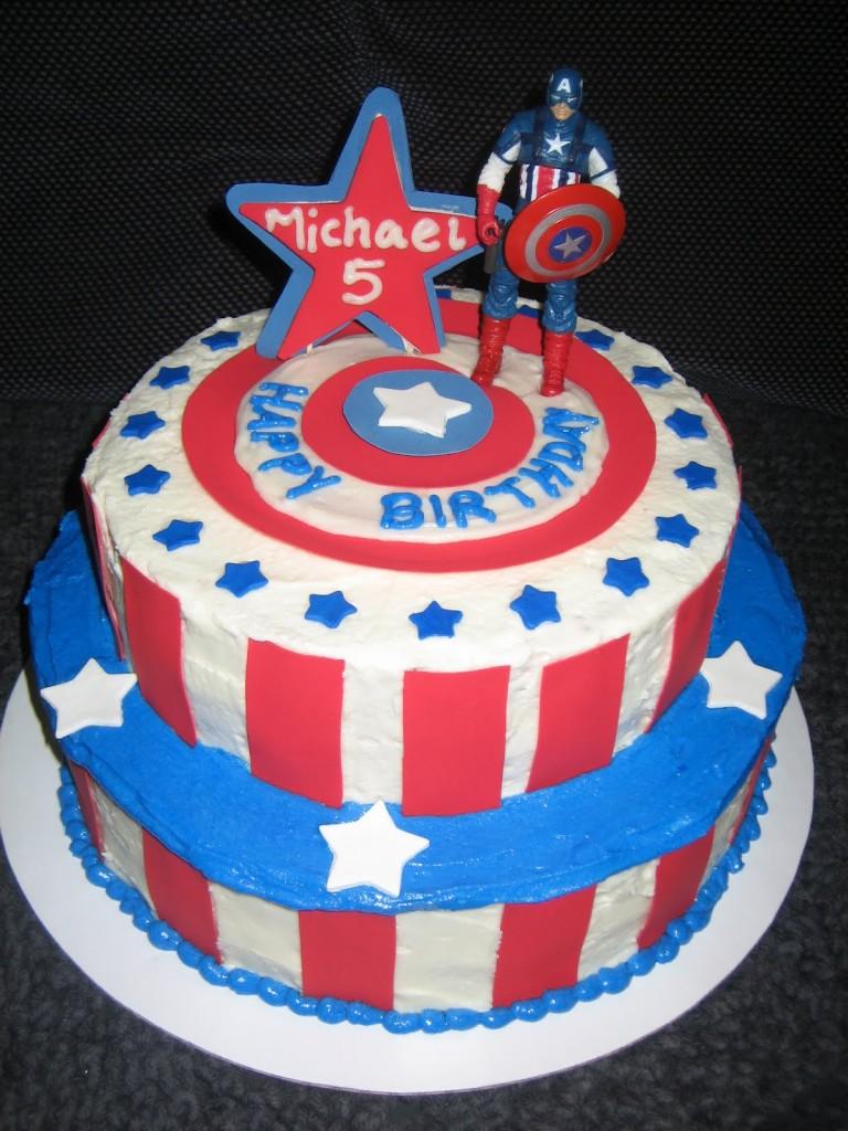 Captain America Cakes Photos