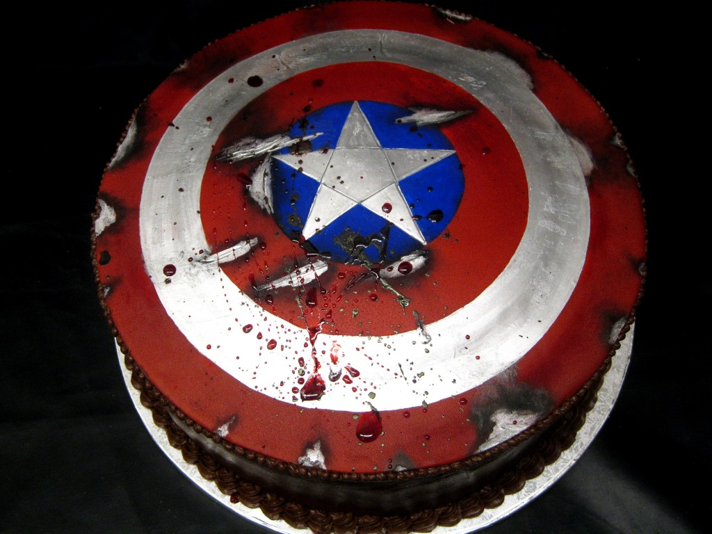 Captain America Shield Cakes