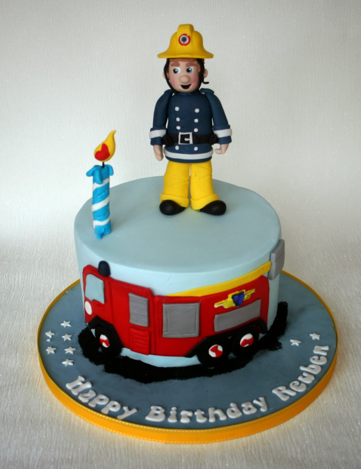 Fireman Sam Cake Topper Figure