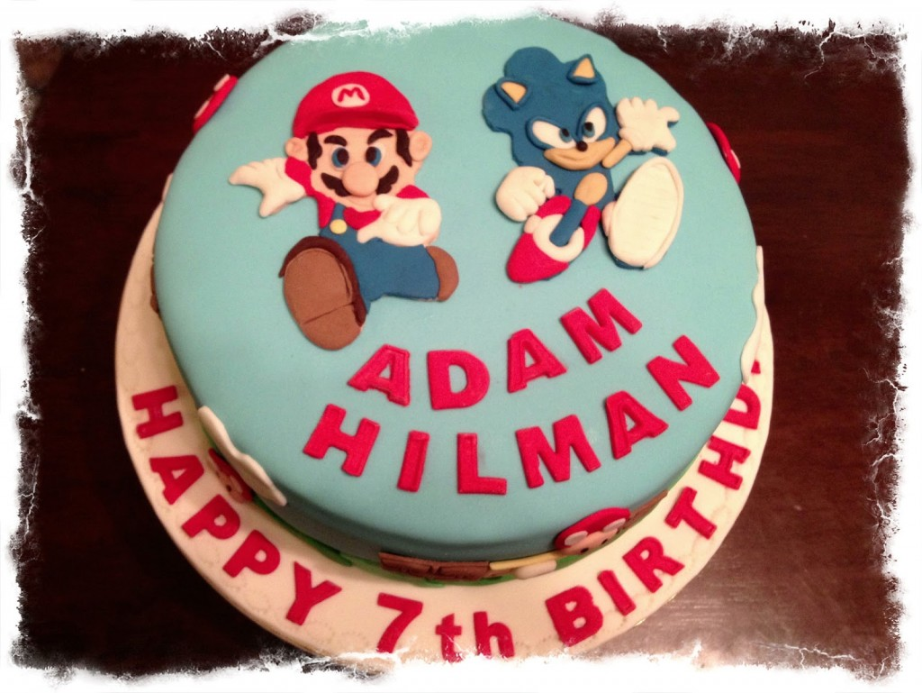 Mario and Sonic Cake