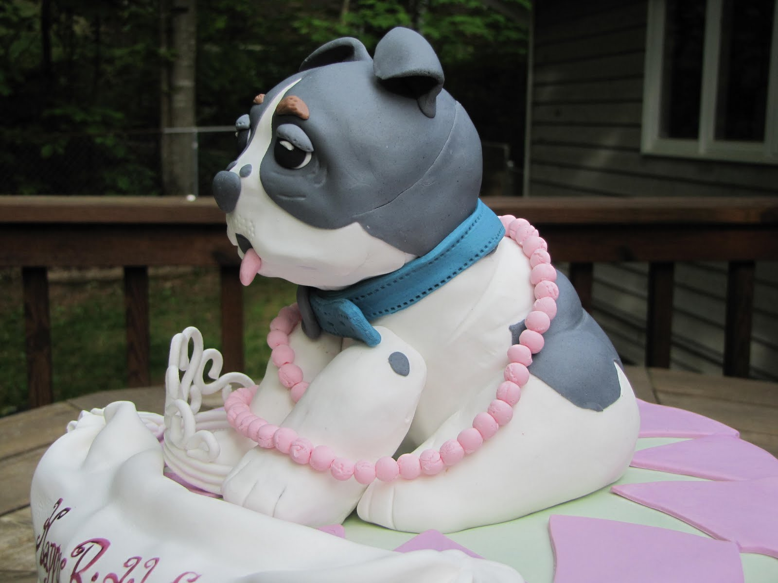 Dog Decoration Birthday Cake