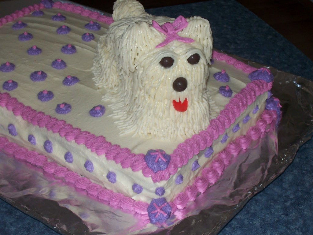Dog Carrot Birthday Cake