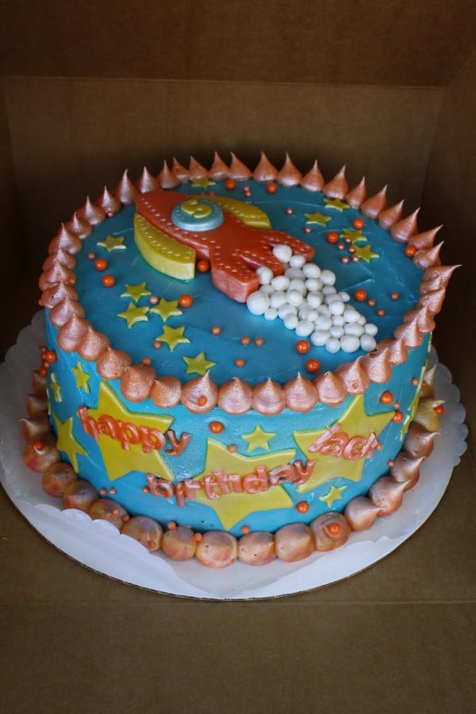 Rocket Ship Cake