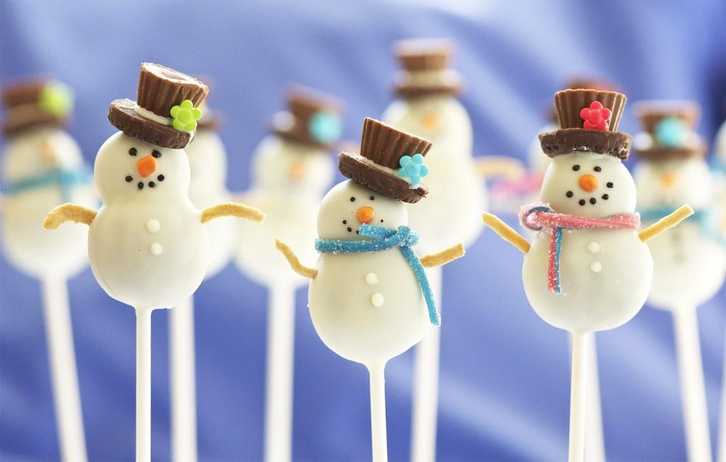 Birthday Cake Snowmen
