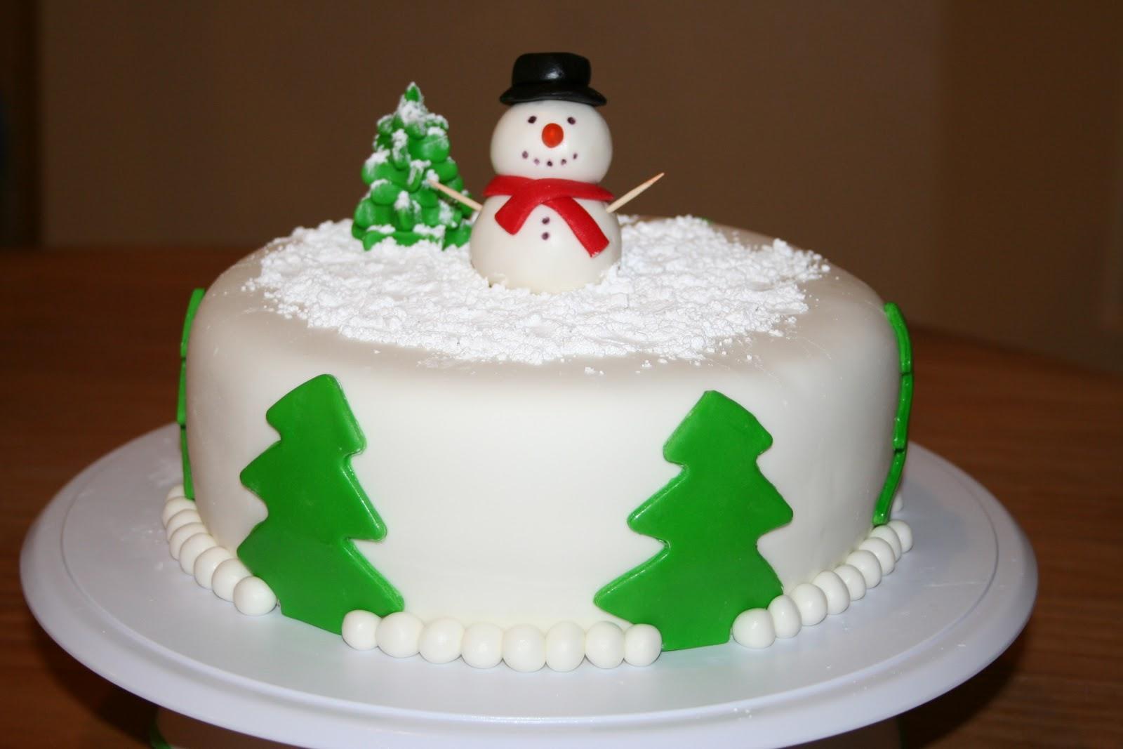 Snowman Birthday Cake Carrot Cake