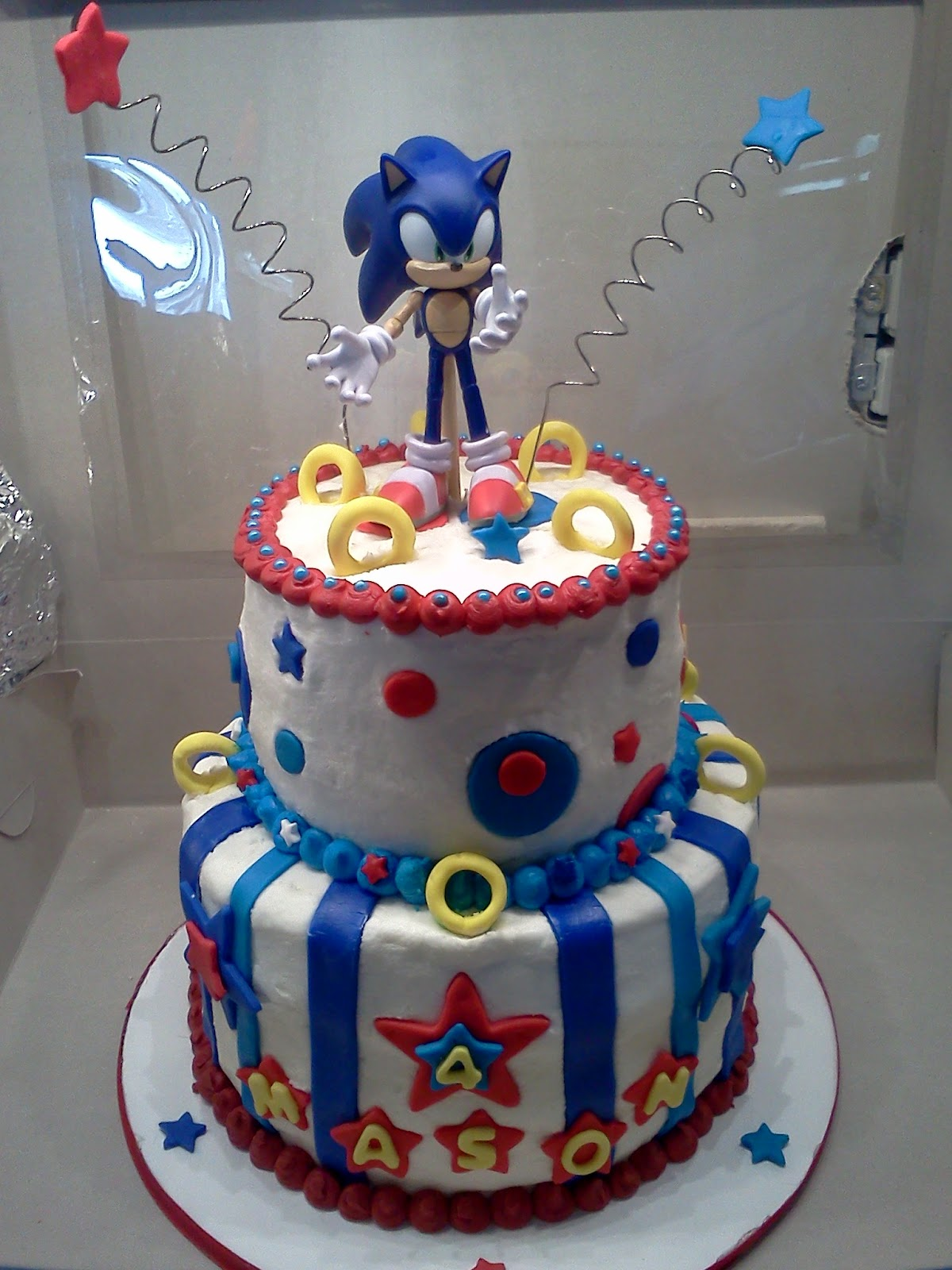 Sonic Birthday Cake Decorations
