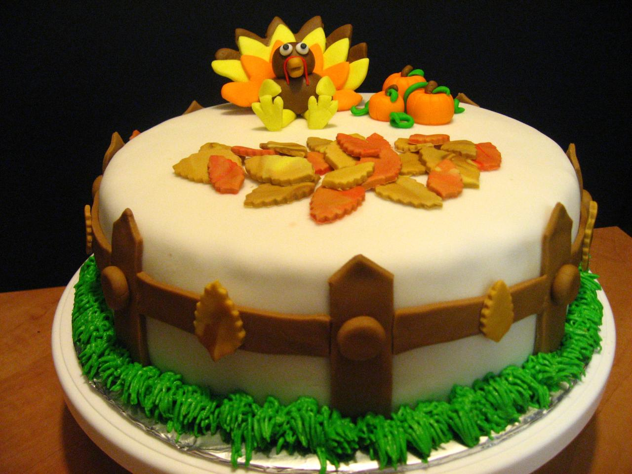 Cake Decoration Thanksgiving : Thanksgiving Cakes   Decoration Ideas Little Birthday Cakes