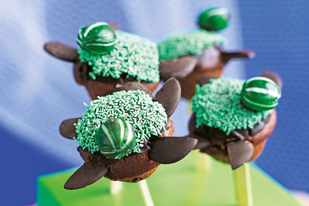 Turtle Cake Pops