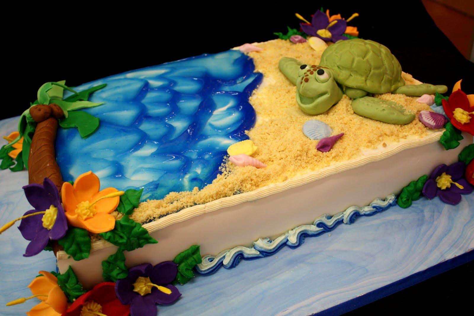 Turtle Cake Decoration Ideas Little Birthday Cakes