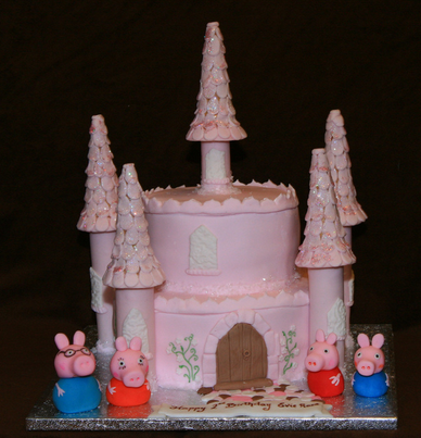 Pepper Pig Birthday Cake Decoration Ideas Little