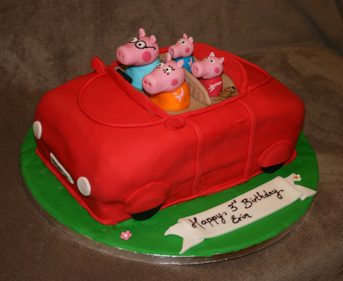 Pepper Pig Birthday Cake Decoration ideas Little Birthday Cakes