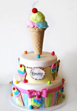 Cake Ice Cream Birthday : Ice cream cakes   Decoration ideas Little Birthday Cakes