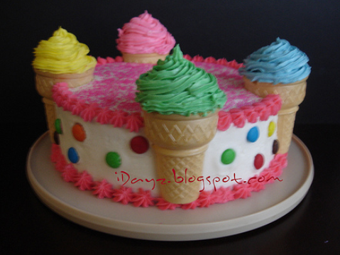 Cake Decoration By Cream : Ice cream cakes   Decoration ideas Little Birthday Cakes