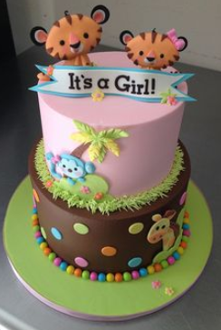 baby shower tower cakes for girls