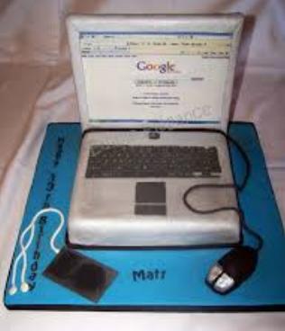 big laptop cake