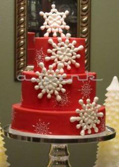 big red cake ideas
