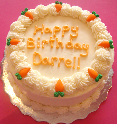 Birthday Carrot Cake Decoration