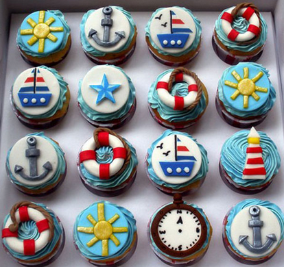 boat cupcakes
