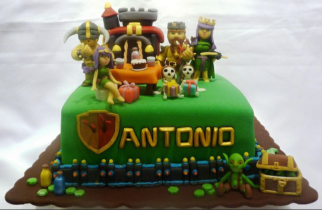 clash of clan birthday cake