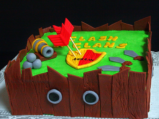 Cake Design Coc : Clash of clan cake   Decoration ideas Little Birthday Cakes