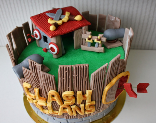 clash of clan cake ideas