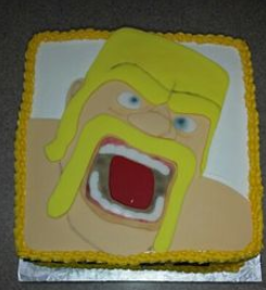clash of clan cake warrior