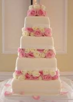 elegant roses wedding cakes