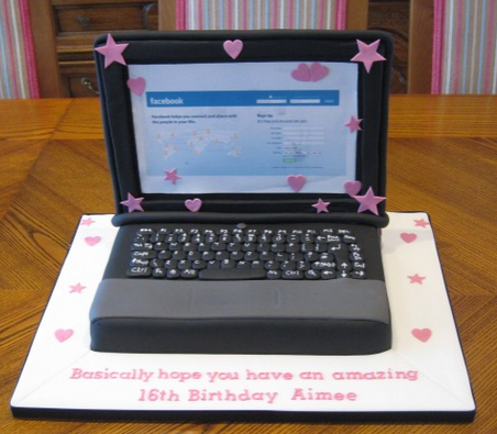 Laptop Keyboard Cake Topper