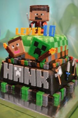 Minecraft cakes Decoration ideas Little Birthday Cakes