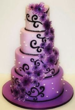 Purple wedding cakes Decoration ideas Little Birthday Cakes