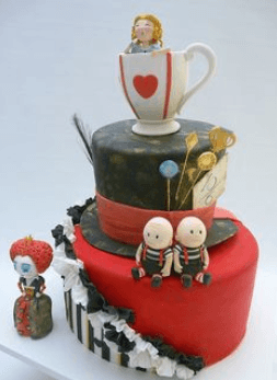Alice in wonderland cake decorations