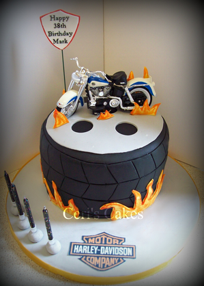 Davidson Harley Cake Decorations