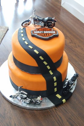 Harley Davidson bike cake decorations