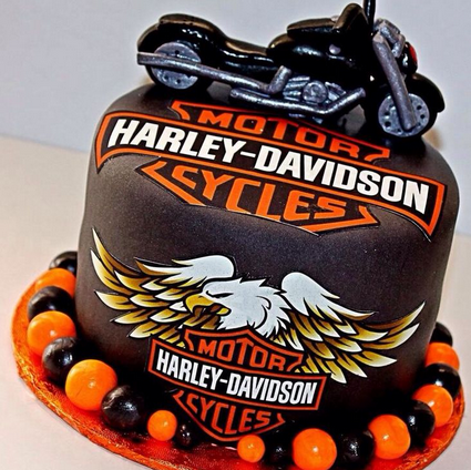 Harley Davidson cake decorations picture
